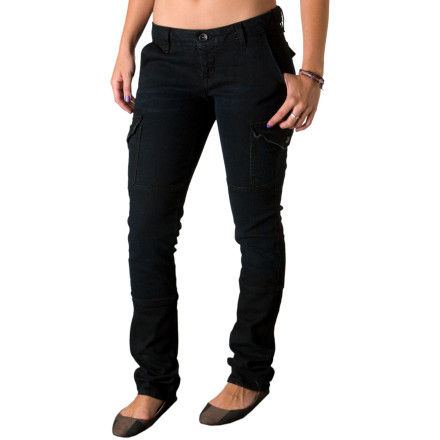 Surf Blend the best of cargo-pant grunge and modern-rocker skinny jeans with the Volcom Garage Rock Skinny Cargo Denim Pant. This jean offers the worn, lived-in detailing that gives a pant true character, and Volcom's unique seaming details and asymmetric yoke add even more distinction. - $23.84