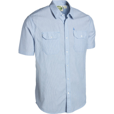 Surf No matter how wretched and trash-filled the water may be, when you button up the short-sleeve Volcom Canal Shirt and take your honey out for a gondola ride, she'll think you're the bee's knees. - $34.62
