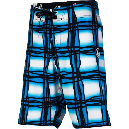 Surf Bring your love of flannels with you to the beach in the Volcom Wavey Plaid Men's Board Short. Seamless design along the outside increases flexibility and prevents chafing, making you feel as comfortable as you are with your favorite plaid shirt in the winter. - $41.21