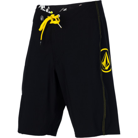 Surf The Volcom Armstrong Solid Men's Board Short keeps it basic on looks and advanced on tech, with a four-way stretch fabric allows freedom of movement so you can let your surfing do the talking. - $49.45