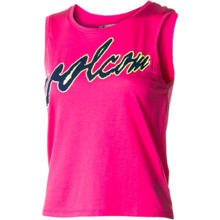 Surf Put some elbow grease into it, and show off those guns in the Volcom Women's Fadies Muscle Tank Top. Or just hang loose in this cool, all-cotton, beach-hued top that will never go out of style. - $17.52