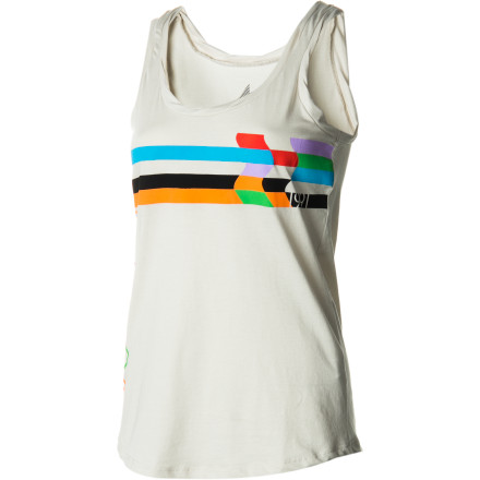 "Surf Nothing is quite as sexy as a girl who is comfortable with herself, and nothing says ""I'm oh-so comfortable,"" like a soft cotton tank. Slip into the Volcom Women's Stone Splice Twister Tank Top, sit back, and let yourself relax. - $19.76"