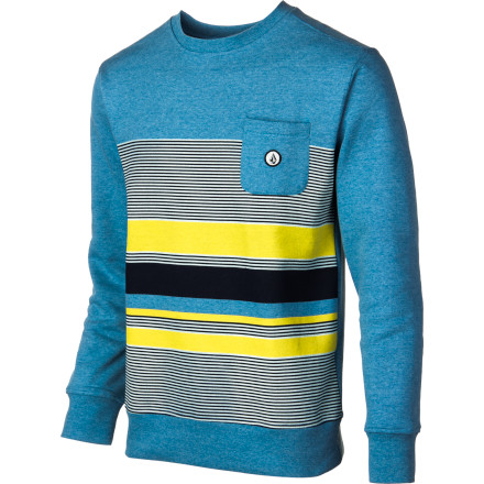 Surf Volcom Delray Fleece Crew Sweatshirt - Men's - $29.67
