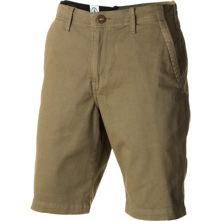 Surf You look like a homeless person in those cutoff jeans that used to belong to your sister. Go for a more grown-up look and a comfier fit in the classic-fitting Abuzz Men's Short from Volcom. - $35.67