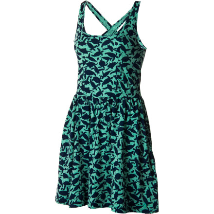 Entertainment A classic tank-dress shape with a feminine cross-cross back and natural waist gives the Volcom Women's V.Co Seas Dress timeless versatility and fun-loving style. And at the beach party or nightclub, this frock made with recycled cotton feels decidedly modern. - $33.53