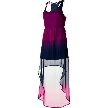 Entertainment The Volcom Women's Sidewalk Flight Dress takes the classic maxi dress into the modern era with sheer, flowing fabrics and a pre-trend cut that looks like it came straight off the runway. - $41.62
