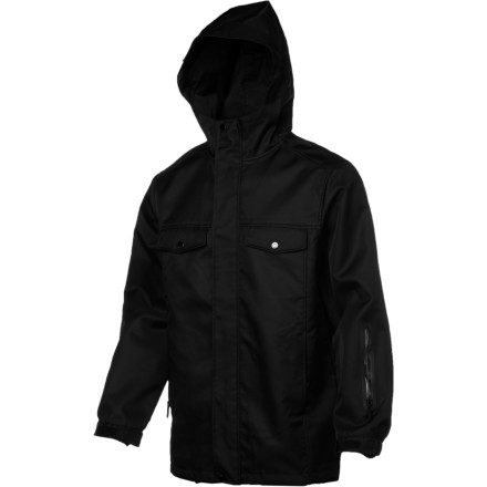 Snowboard Zip up in the WeSC Ren Jacket and divert the energy you've been expending in violent plots and the constant creation of bathroom jokes into carving smooth lines and laying down at the park. Thanks to its non-douchey  style and performance-based design, this jacket will become one of your favorite non-living possessions. - $76.48