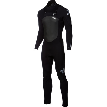 Surf Unlike most people, you love winter storms because you know the waves will be good, and you don't mind the cold water thanks to the XCEL 4/3 Infiniti X-Zip Men's Wetsuit.  The easy-on, easy-off X-Zip entry system also prevents flushing to keep you from getting blasted with frigid water when you duck dive, and the ultra-stretchy neoprene keeps you warm without limiting your range of motion. - $278.96