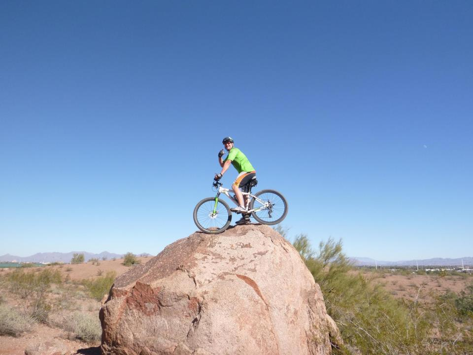 MTB Having a little fun at papago mt