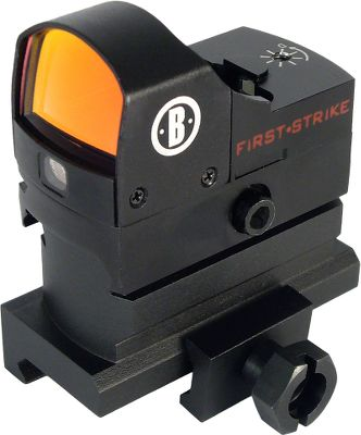 Hunting The HiRise reflex red-dot sight allows proper mounting height on AR-15 flat-top firearms. 5-MOA illuminated red dot reticle with automatic brightness adjustment. Integral base fits Weaver and Picatinny rails. Includes protective hood. Runs on a CR2032 battery (included). - $74.88