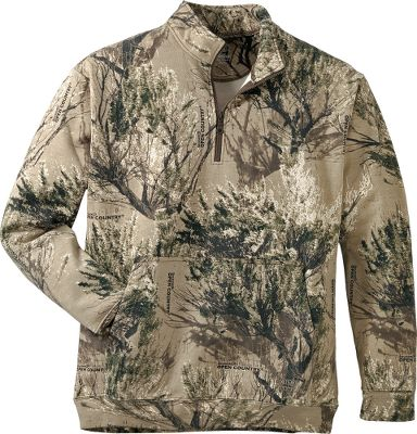 Hunting Experience the breathability and rain-repellent power of the worlds first all-weather 1/4-zip pullover equipped with STORM COTTON. Cabelas Mens 1/4-Zip Pullover with STORM COTTON features a high-tech finish that prevents water from penetrating the fabric. Unlike most water-repellent synthetic fabrics, STORM COTTON is breathable. Much like your favorite cotton jacket, it holds a comfortable amount of body heat, yet it lets excess body moisture and vapor escape. Even after 30 washings, this durable treatment maintains its effectiveness. Made of 14.7-oz. 80/20 cotton/polyester fleece. Rib-knit cuffs and waist. Kangaroo-style handwarmer pocket. Imported. Sizes: M-3XL. Camo patterns: Realtree XTRA, Mossy Oak Winter Brush, Mossy Oak Break-Up Infinity, Cabelas Zonz Western. Size: MEDIUM. Color: Mo Winter Brush. Gender: Male. Age Group: Adult. Pattern: Camo. Material: Cotton. Type: 1/4-Zip Pullovers. - $64.99