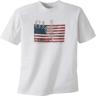 If you love the Second Amendment and youre proud to be an American, this shirt with Cabela's-exclusive graphics is for you. These affordable, soft and durable shirts boast shoulder-to-shoulder taped seams, and double stitching on sleeves and hem. Crafted of 6.1-oz. 100% cotton jersey. Machine washable. Imported. Sizes: M-2XL. Designs: Second Amendment, American Eagle, American Lifestyle. - $6.88