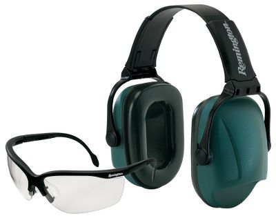 Essential safety equipment for the range, all in one package. Includes comfortable padded earmuffs and impact-safe shooting glasses. Size: Adult. - $21.88