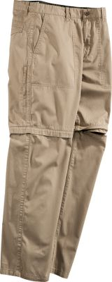 Rugged all-purpose cargo pants with convertible versatility. Made of durable, 100% two-ply cotton with a soft-wash finish for a broken-in feel. Zip-off legs for easy conversion to 9-1/2 shorts. Side-zip security pocket on right leg. Imported.Inseam: 30. Even waist sizes: 32-38. Inseam: 32. Waist sizes: 32-34, 36-42 even.Inseam: 34. Even waist sizes: 34-38. Colors: Khaki, Stone. - $39.99