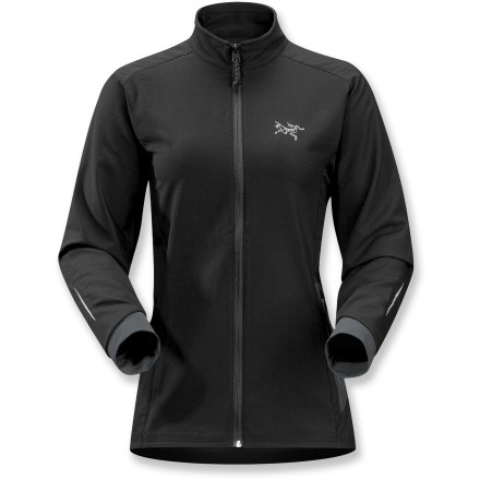 Ideal for aerobic activities in cooler weather, the Arc'teryx Accelero jacket is engineered to deliver controlled airflow and moisture-wicking performance. Polyester fabric is incredibly smooth to the touch; it's designed to move with the body and keep skin dry. Internal layer of bamboo charcoal helps fabric resist odors. As you zip the jacket up, you'll feel the expertly designed fit conform to your body. Accelero has articulated elbows, strategically placed seams to reduce chafing and gusseted underarms that keep jacket in place when arms are raised. Accelero jacket features a laminated side pocket with internal audio port. A reflective logo and reflective prints on sleeves and back boost visibility. The Arc'teryx Accelero jacket features a drop-back hem and an athletic, close fit that hugs the body. Closeout. - $94.73