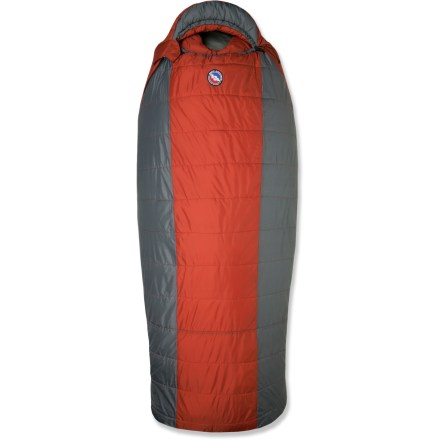 Camp and Hike From the Big Agnes Park Series, the synthetic Whiskey Park sleeping bag offers big guys and campers who like a lot of space supreme comfort at base camp and during car-camping excursions. - $134.93
