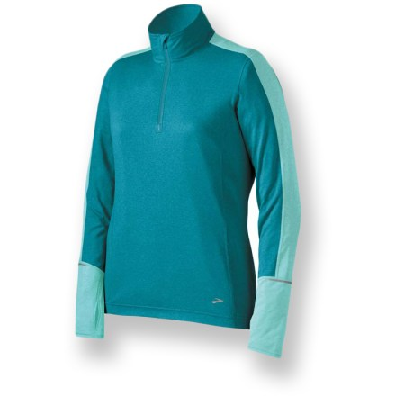 Fitness The Essential Half-Zip II top from Brooks works hard to keep you comfortable on cool-weather trail runs, and it's perfect under a shell in colder weather. - $15.83