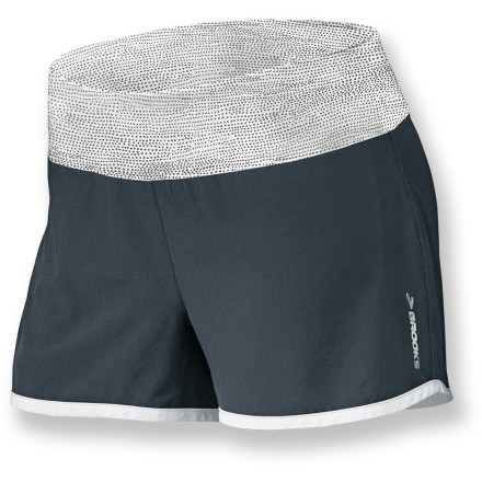 Fitness Stretchy, lightweight fabric makes the Brooks Glycerin 2-in-1 shorts a great choice for warm-weather training. Stretch-woven outer fabric is smooth, moisture wicking and quick drying; fabric is partially recycled. Soft inner liner wicks away moisture and dries quickly. Wide waistband provides a comfortable fit; liner pocket holds a small item such as a house key. The semifitted Brooks Glycerin shorts are not too tight and not too loose. - $31.93