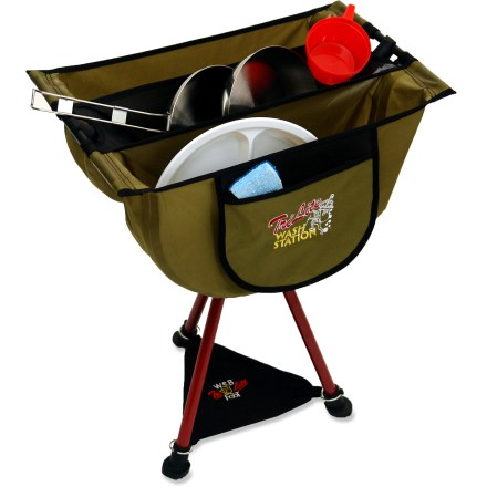 Camp and Hike Use the Byer TriLite Wash Station and Stool combo to suds up your camp dishes then convert the wash station to a stool and take a seat by the fire. - $32.93
