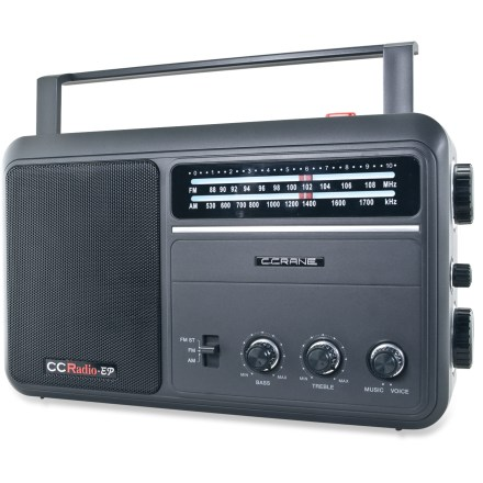 Camp and Hike The classic C Crane CCRadio EP radio offers AM/FM listening pleasure with pure, simple performance. No clock to set, no station presets to program-just turn it on and tune it in. - $79.95