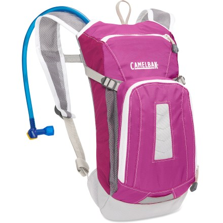 Fitness The CamelBak Mini-M.U.L.E. kids' hydration pack lets them carry 50 fl. oz. of water, a snack, sunscreen, house keys and other essentials as they ride. - $36.93