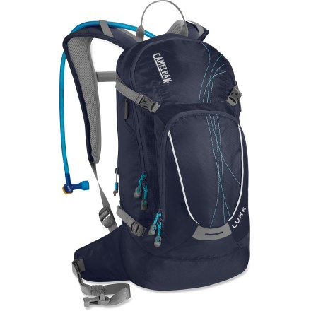 Fitness This low-profile CamelBak L.U.X.E. hydration pack boasts a women-specific design for excellent comfort, plus plenty of gear capacity and a 100 fl. oz. reservoir for all-day mountain biking sessions. - $74.93