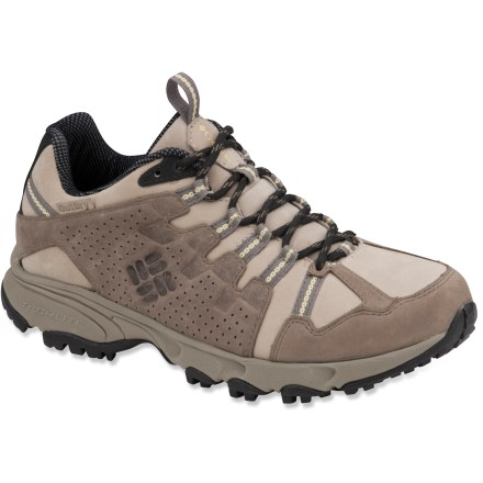 Fitness Don't be fooled by the understated looks of the Columbia Talus Ridge Leather Outdry multisport shoes. These puppies are made to excel in a variety of outdoor activities. Sturdy leather uppers and waterproof, breathable construction offer solid protection from the elements. Omni-Grip outsoles provide just the right amount of traction for multiple outdoor pursuits. Closeout. - $57.73