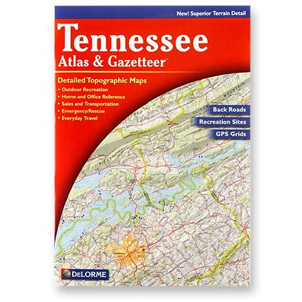 Camp and Hike Atlas and gazetteer to Tennessee features topographic maps of the entire state with roads, trails and recreational opportunities. - $19.95