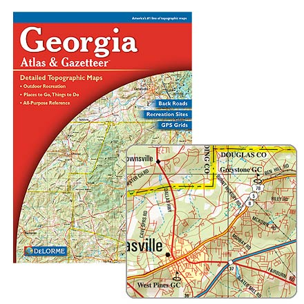 Camp and Hike An atlas and gazetteer with detailed maps and GPS grids for the entire state of Georgia - $19.95