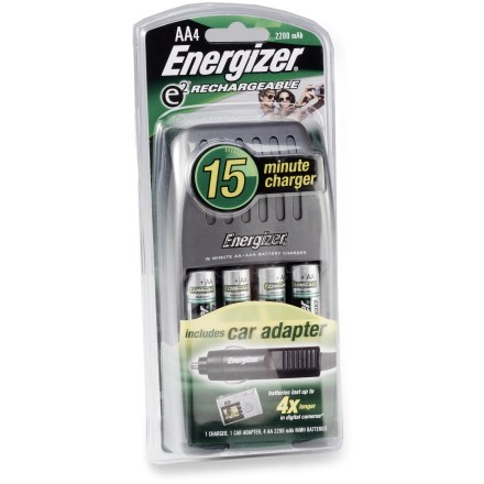 Camp and Hike Dead batteries got you down? With the Energizer 15 Minute charger you'll be back in business in no time at all! - $19.83