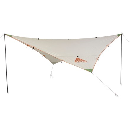 Camp and Hike The Kelty Noah's Tarp 9 is an instant shade. This lightweight, affordable shelter is handy to have aboard for weather protection in a hurry-whether you are traveling over land or over water. - $44.93