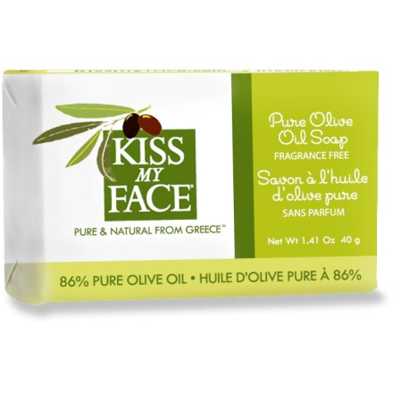 Camp and Hike This travel-size bar of Kiss My Face Olive Oil soap cleanses and moisturizes naturally. - $0.93