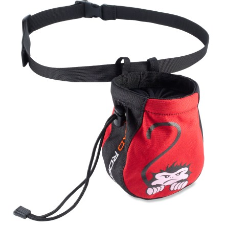 Climbing Sized specifically for kids, the Mad Rock Crouching Monkey chalk bag is the perfect accessory for your young climber. - $9.95