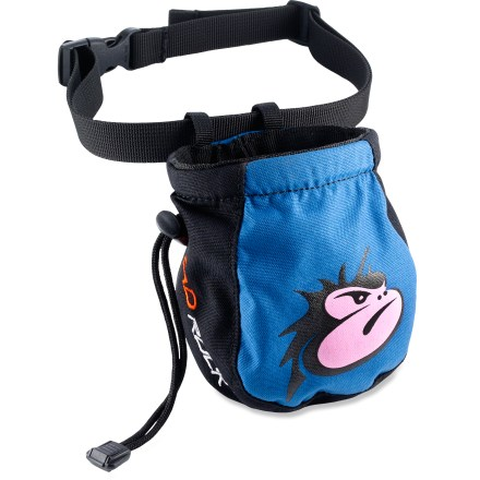 Climbing Sized specifically for kids, the Mad Rock Mad Face chalk bag is the perfect accessory for your young climber. - $6.93