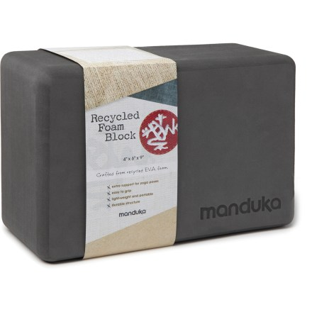 Fitness The Manduka Recycled-Foam yoga block will help you get the most out of your yoga routine. - $16.00