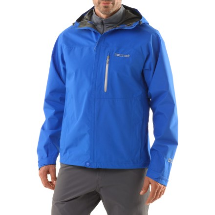 When saving weight is critical to your mission, choose the Marmot Minimalist jacket. It's made with Gore-Tex(R) PacLite(R) and weighs a mere 15 oz. - $200.00