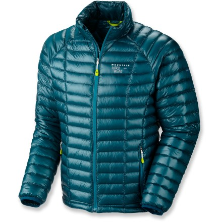 The Mountain Hardwear Ghost Whisperer down jacket features 850-fill-power goose down for a highly compressible and incredibly lightweight layer that has no problem keeping you warm in the cold. - $159.83