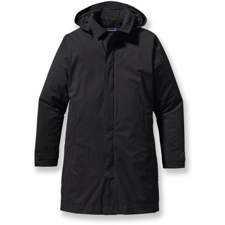 The Fogbank Trench Rain Coat from Patagonia is made of a durable H2No Performance Standard 2.5-layer nylon fabric with a waterproof breathable barrier. - $123.93