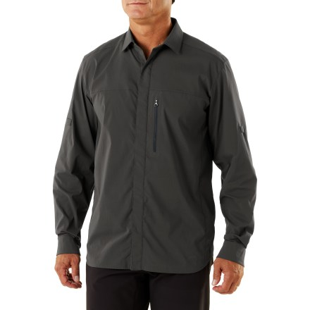 Camp and Hike Hit the trail to happiness with the high-performance REI Endeavor men's shirt. It's a technical piece with a classic fit that's built to keep you comfortable so you can travel farther faster. - $19.83