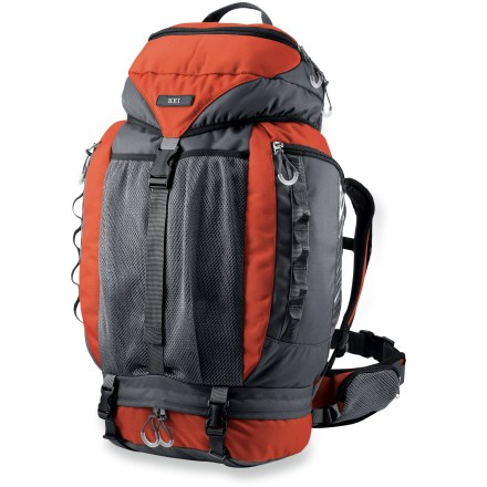 Camp and Hike The REI Comet pack outfits young adventurers for overnight trips. And the 4 inches of torso length adjustment means it can continue to fit them as they grow. Top-loading backpack easily holds child's sleeping bag and a few extras. With a rip-and-stick adjustment, shoulder strap system slides easily up and down pack's frame to fit torsos of varying lengths. Hipbelt wraps around and adjusts for the best fit; 2 zippered mesh pockets keep snacks or other small items within easy reach. Hydration-compatible, zippered side pocket with a tube exit port holds up to a 1-liter reservoir, not included. Top zippered pocket lets kids stash their headlamp, camp toys and other gadgets; a parent-friendly handle on top helps with putting on the pack. Unique panels on 2 zippered stash pockets let kids see inside, helping them find their gear quickly. Oversize front mesh stuff pocket easily swallows a jacket or favorite stuffed animal. Bottom zippered storage compartment lets them keep dirty shoes or clothes separate from main compartment. Sized to fit kids ages 6 - 10 yrs. old. Special buy. - $59.73