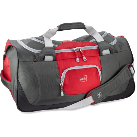 Entertainment Get out of town quick with all your gear in 1 bag. The REI Tech Beast 65L duffel is targeted for those grab-and-go, active weekend adventures. Skip the bells and whistles of wheeled luggage and go! - $68.93