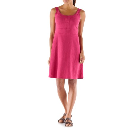 Entertainment The REI Aldervale Tank dress is perfect for the city as well as traveling. This smart dress has easy pull-on styling that flatters your figure, and it's so cute when paired with a sweater or hoodie. Easy-care slub jersey knit is blended with a touch of elastane for the perfect amount of stretch. Flattering empire waist seaming with tiny tucks. Slim fit offers a lean look. - $32.83