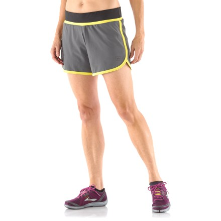 Fitness The women's REI Fast Pass 2-in-1 shorts help you get the most out of your workout thanks to their active fit and easy comfort. Polyester fabric wicks moisture and dries fast, so you stay comfortable no matter the temperature. Liner shorts offer very light compression and wick moisture away from body to keep you comfortable. Fabric provides UPF 50+ protection from harmful solar rays. Elastic waistband with drawcord ensures a comfortable fit. Zippered lumbar pocket stores valuables. The REI Fast Pass 2-in-1 running shorts feature an active fit that offers a full range of motion. - $31.93