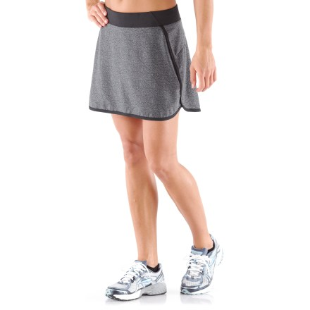Fitness The REI Fast Pass skort is perfect for the gym or on the trail thanks to its soft performance fabric. Polyester fabric wicks moisture and dries quickly, so you stay comfortable no matter the temperature. Liner shorts offer very light compression and wick moisture away from body to keep you comfortable. Fabric provides UPF 50+ protection from harmful solar rays. Elastic waistband with drawcord ensures a comfortable fit. Internal shorts feature an envelope pocket on thigh to store small extras; outer skirt features a zippered lumbar pocket to store valuables. The REI Fast Pass skort provides an active fit that offers a full range of motion. - $23.83