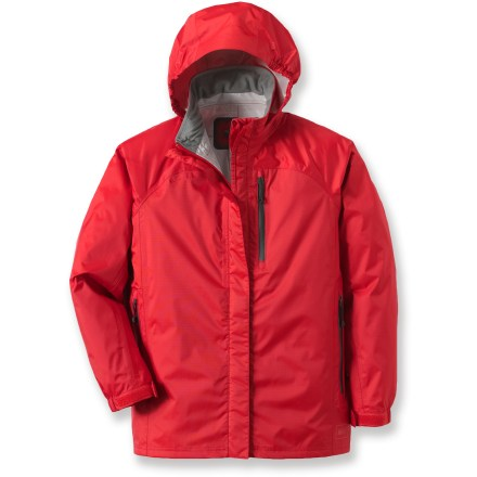 Lightweight and packable, the boys' REI Rainwall Rain Jacket offers waterproof, windproof coverage for outdoor adventures in wet and windy weather. - $44.93
