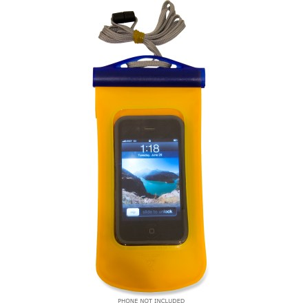 Entertainment The Seattle Sports E-Merse Dry cell case lets you talk and text right through the waterproof barrier. It's sized to fit large smart phones, including the Motorola Droid X. - $10.93