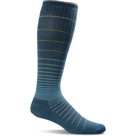 Fitness Whether you're about to spend hours on a plane or trying to speed muscle recovery, the Sockwell Circulator Compression socks help increase blood flow, decrease swelling and deliver support. - $24.95