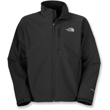 Snowboard The North Face Apex Bionic extended-size soft-shell jacket sports windproof features. Its stretchy, comfortable fit is ideal for a variety of outdoor activities. - $117.93