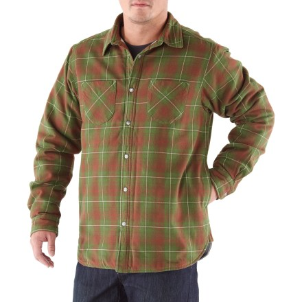 This Trapper Flannel shirt from The North Face matches a classic flannel exterior with quilted insulation to keep you warm on even the chilliest mornings. 60g Heatseeker(TM) insulation offers lightweight warmth. Metal snap closures along front placket add vintage charm. 2 side-seam hand pockets; 2 chest pockets. The North Face Trapper Flannel shirt features snap button cuffs. - $54.93