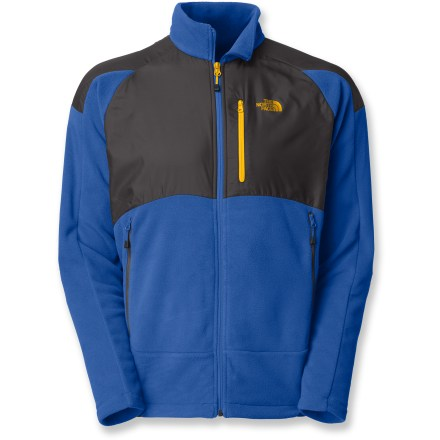 Entertainment An all-around fleece jacket for cold weather, The North Face TKA 100 Cascade jacket has a full-zip design with stretch for a comfortable fit. Durable, quick-drying, lightweight Polartec(R) microfleece provides warmth, breathability and buttery softness. Abrasion-resistant, polyester panels on upper body, hips and shoulders provide reinforcement and durability. Drawcord adjustable hem keeps cold air out. 2 zip hand pockets and a Napoleon chest pocket. Standard fit ensures freedom of motion. Closeout. - $53.93